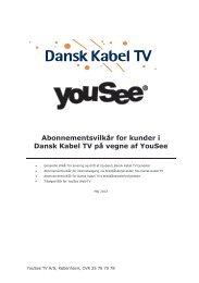 gældende fra d. 18. april 2012 - Dansk Kabel TV