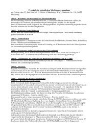 Protokoll der ordentlichen Mitgliederversammlung am Freitag, dem ...