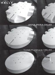 ANNA-MARIA BAUER - KunstHalle Wil