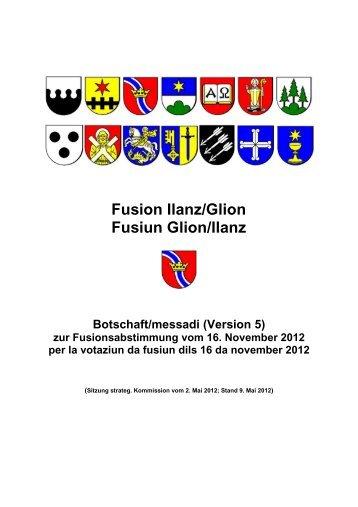 Fusion Ilanz/Glion Fusiun Glion/Ilanz Botschaft/messadi - Sevgein