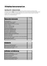 Klinisches Instrumentarium 2012 - Bauer & Reif Dentalhandel und