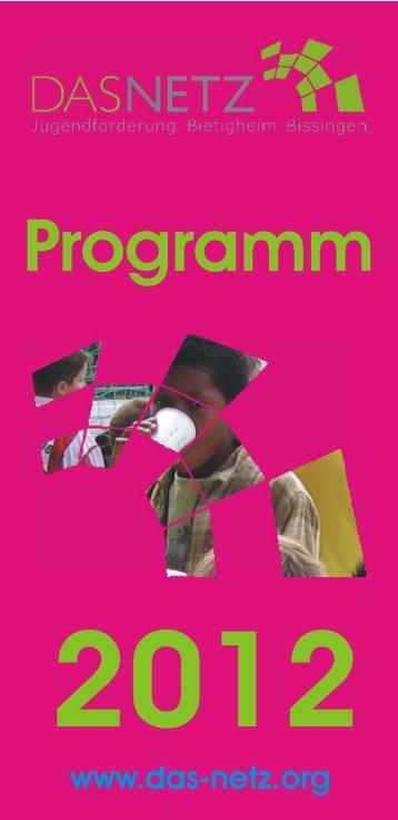 Programmheft 2012 - Das Netz