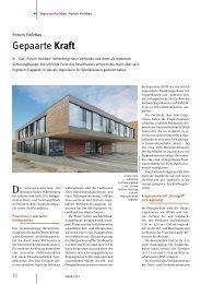 Forum Holzbau: Gepaarte Kraft - Mikado