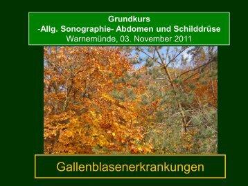 Vortrag Gallenblase - Ultraschalltagung-bb.de