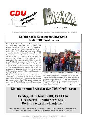 Ausgabe 14 aus 02/2004 - der CDU Großbeeren