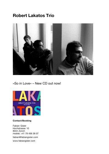 Robert Lakatos Trio: So in Love