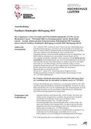 November 2013, Luzern: Fachkurs Kindsopfer-Befragung ... - SODK