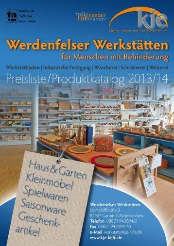Preisliste / Produktkatalog - KJE Hilfe