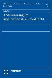 Anerkennung im Internationalen Privatrecht Nomos