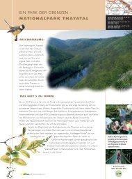 Ein Park der Grenzen - Nationalpark Thayatal
