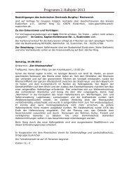 Programm 2. Halbjahr 2013 - Geschichtsverein des Kreises ...