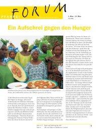 Ein Aufschrei gegen den Hunger - Pfarreiforum
