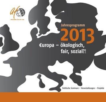 Jahresprogramm 2013 - aktuelles forum nrw eV