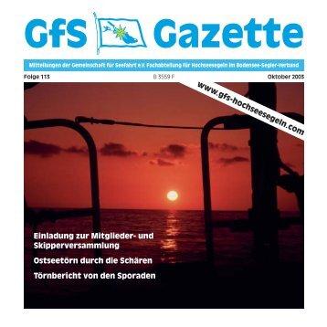 113 Gazette - Hochseesegeln mit der GfS