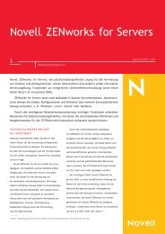 Novell Zenworks for Servers 3 Product Flyer - BIT ...