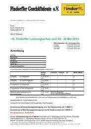 16. Findorffer Leistungsschau vom 24.- 26.Mai 2013