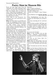 Poetry Slam im Muasem Hüs - Kjausi Hörbuch Verlag