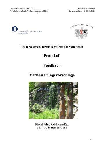 Protokoll_RiAA GR-Seminar 09-2011 - Ludwig Boltzmann Institut für ...