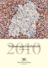 Verfassungsschutzbericht 2010 - Baden-Württemberg