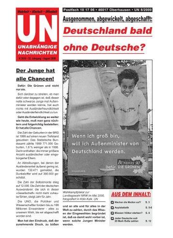 Deutschland bald ohne Deutsche? - Unabhängige Nachrichten