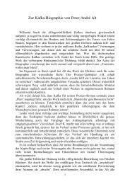 Zur Kafka-Biographie von Peter-André Alt - Christian-Eschweiler.com