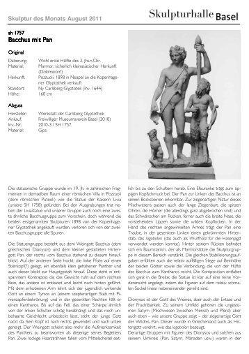 Bacchus mit Pan Bacchus mit Pan - Skulpturhalle