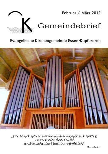 Februar / März 2012 - Evangelische Kirchengemeinde Essen ...