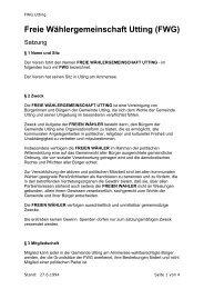 FWG-Satzung. - FWG Utting am Ammersee