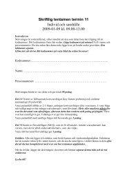 Skriftlig tentamen termin 11 Individ och samhälle 2009-01-09 kl ...