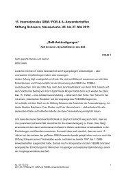 15. Internationales GBM / POB & A ... - Stiftung Scheuern