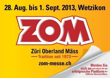 Aussteller-Einladung - ZOM Züri Oberland Mäss