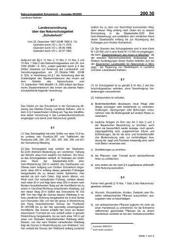 Schulerloch - Die Regierung von Niederbayern