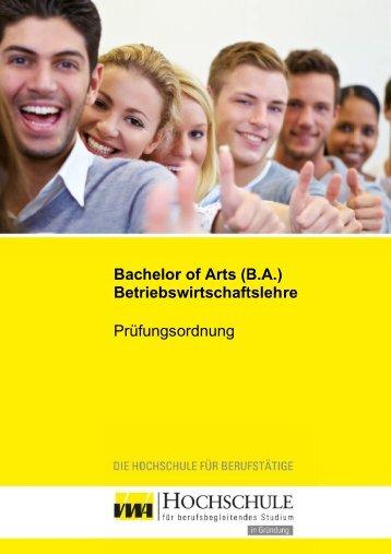 Prüfungsordnung Betriebswirtschaftslehre B.A. - VWA Hochschule