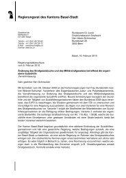 Änderung Strafgesetzbuch - Regierungsrat - Kanton Basel-Stadt