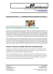Streik in Guinea (zusammengestellte deutsche Presseartikel)