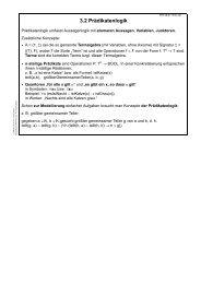 Kapitel 3.2: Prädikatenlogik
