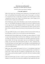 Gedanken zu einigen Kafka-Texten - Theologie und Literatur