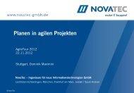 NovaTec Unternehmensprofil - Agile Tour in Stuttgart