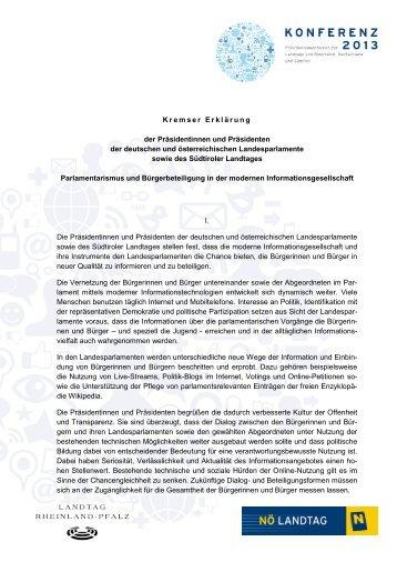 Kremser Erklärung