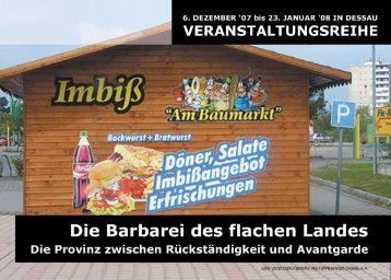 Die Barbarei des flachen Landes - Mediathek Dessau-Roßlau