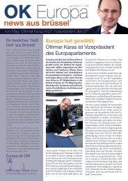 Europa hat gewählt: Othmar Karas ist Vizepräsident des ...