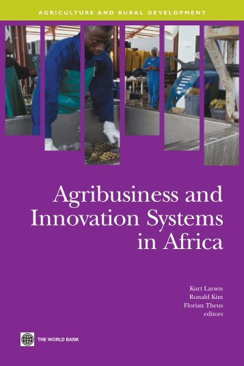 Agribusiness and Innovation Systems in Africa - ISBN - World Bank