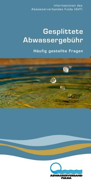 Gesplittete Abwassergebühr - Abwasserverband Fulda