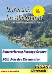 Ausgabe Juni 2011 - (ÖVP) Unterach am Attersee