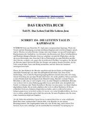 Das Urantia Buch - Schrift 154 - Die Letzten Tage in Kapernaum