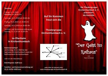"""""""Der Geist im Rathaus"""" - Theatergruppe Kirchenthumbach"""