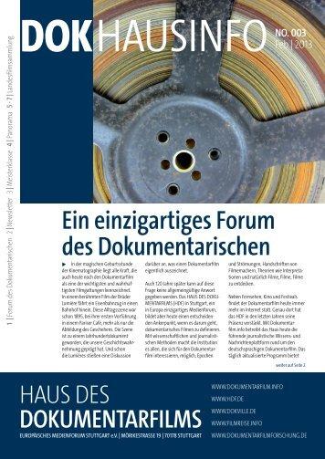 DOKHausinfo.003 herunterladen | (Pdf, 4,6 Mb) - Dokumentarfilm.info
