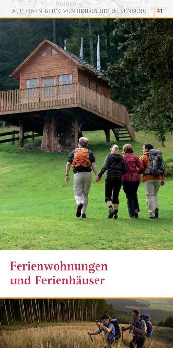 Ferienwohnungen und Ferienhäuser - Rothaarsteig