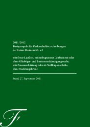 Basisprospekt Orderschuldverschreibungen Future-Business KG