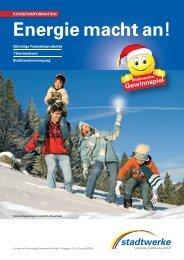 Energie macht an! - Vereinigte Stadtwerke GmbH